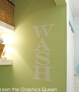 green-laundry-room-white-decal