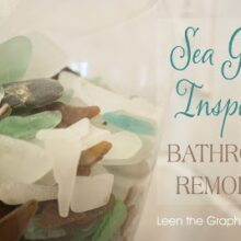 Sea Glass Inspired Coastal Bathroom Remodel