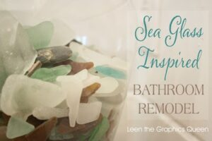 seaglass inspired coastal bathroom remodel - sand dollar lane