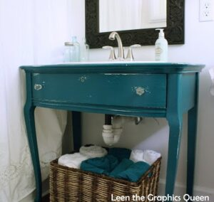 turquoise-bathroom-vanilty