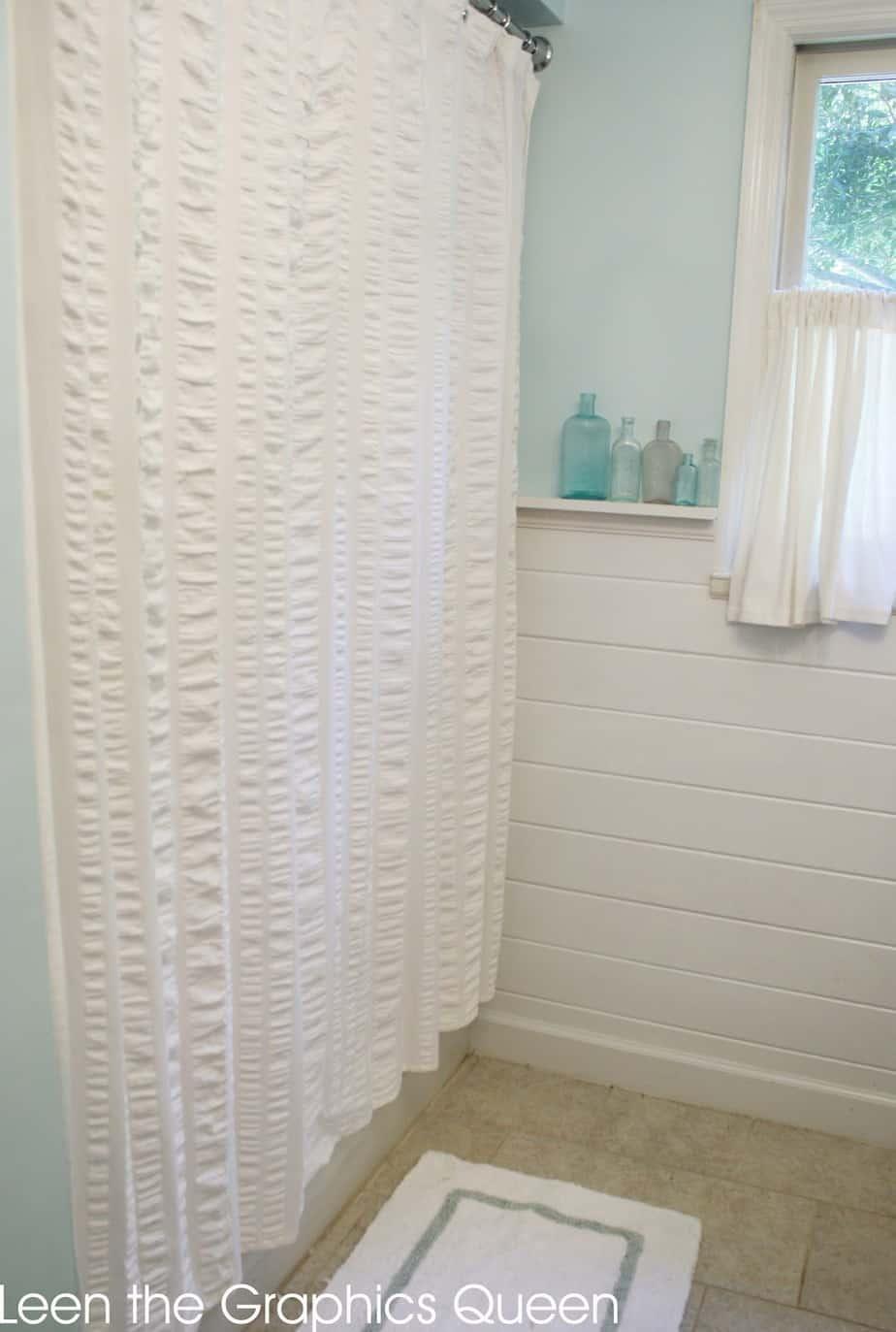Sea Glass Inspired Coastal Bathroom Remodel - Sand Dollar Lane