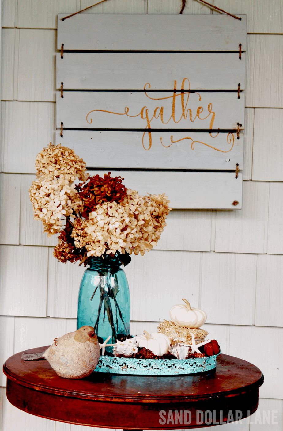 gather sign for front porch