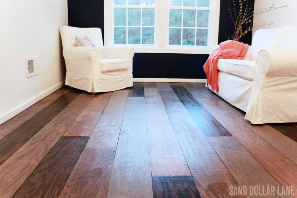 wood flooring in bonus room
