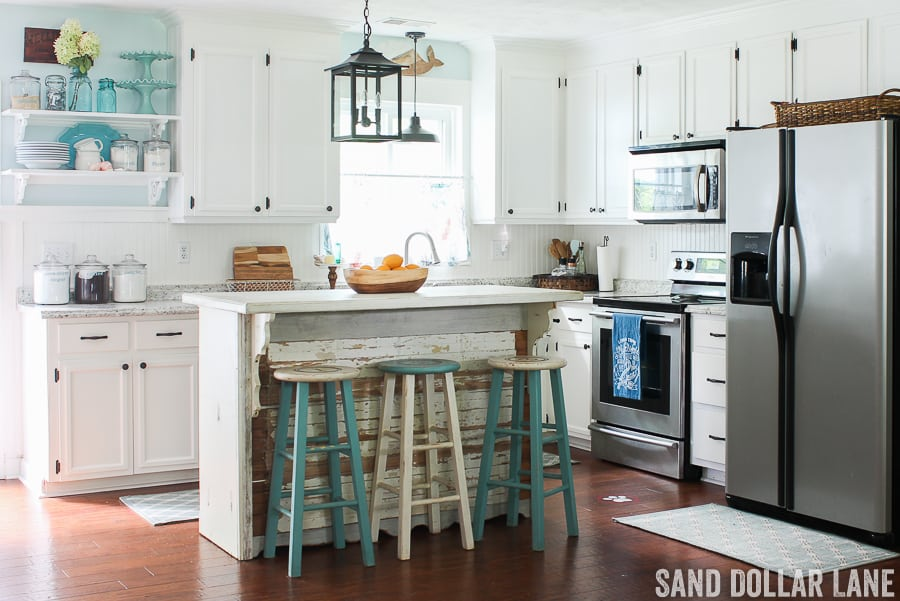 Coastal Farmhouse Kitchen - Sand Dollar Lane