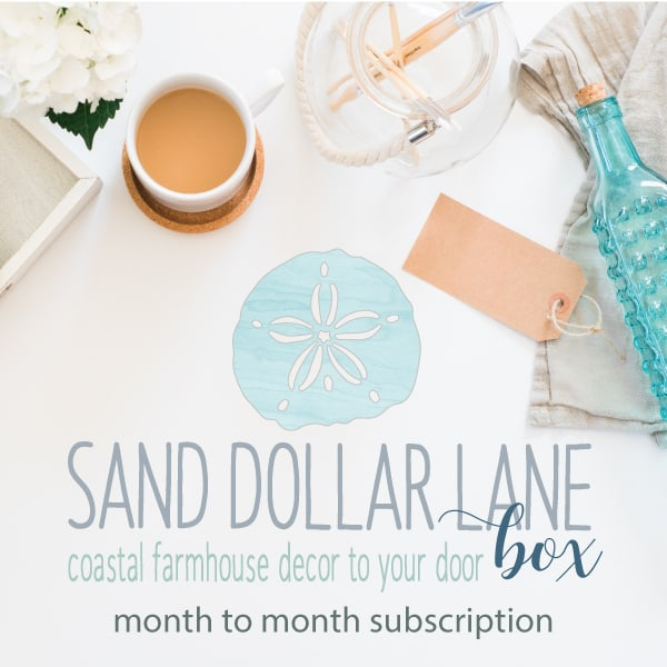 Sand Dollar Lane Box - Coastal Farmhouse decor to your door