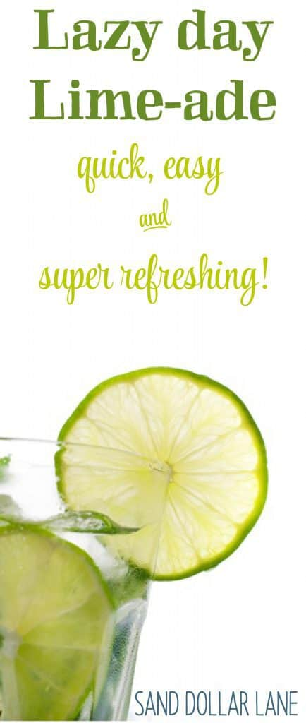 Quick easy refreshing limeade recipe