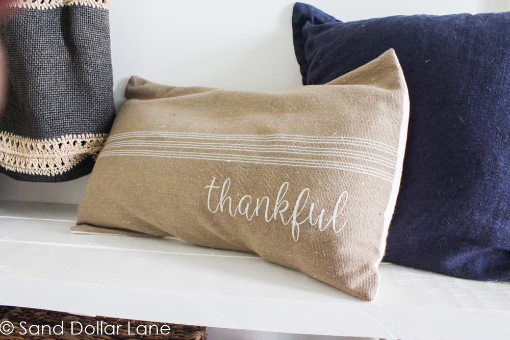 Thankful pillow from Farmhouse on Boone