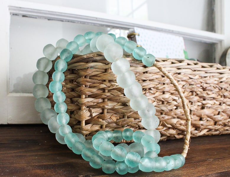 seaglass bead garland
