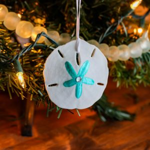 hand painted sand dollar ornaments