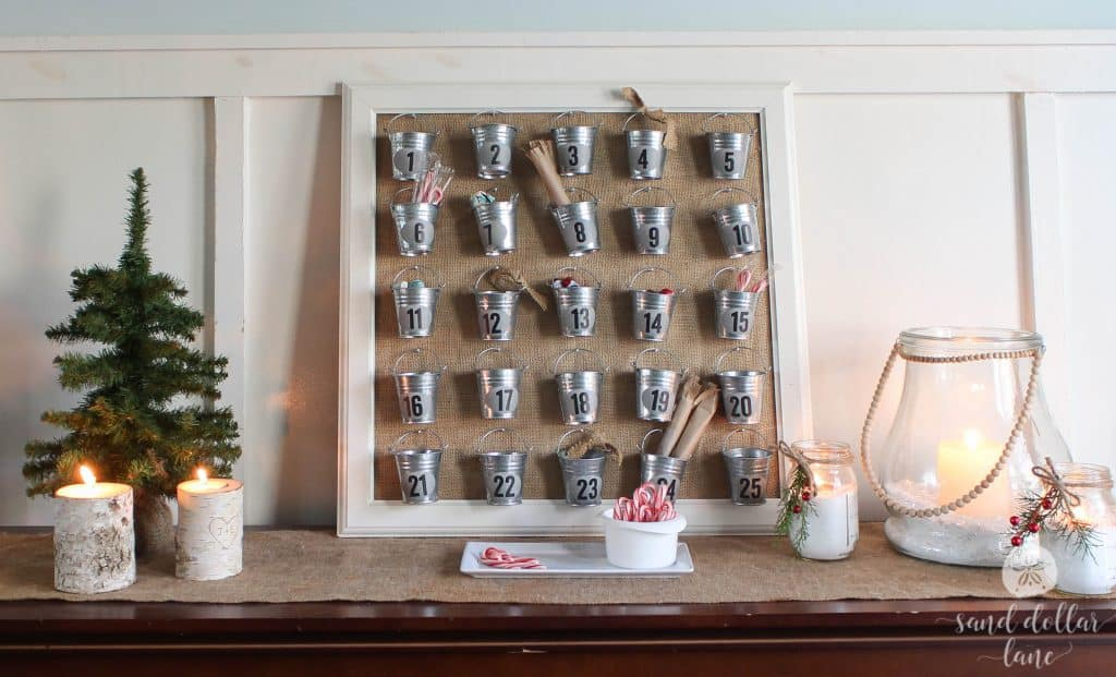 fun advent calendar with buckets
