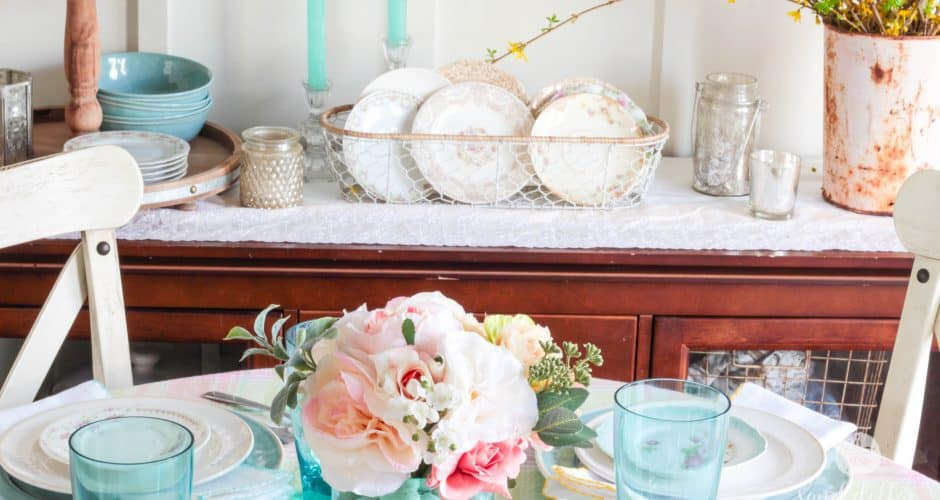 Spring Dining Room Tablescape