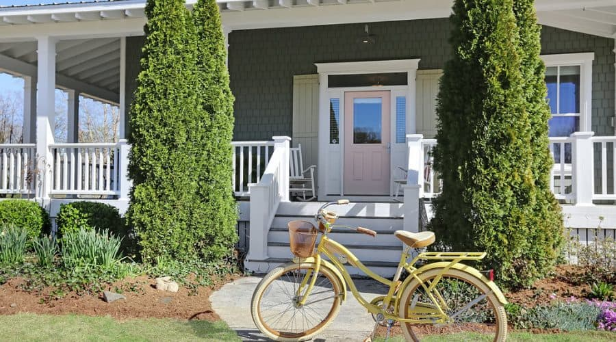 coastal farmhouse front porch