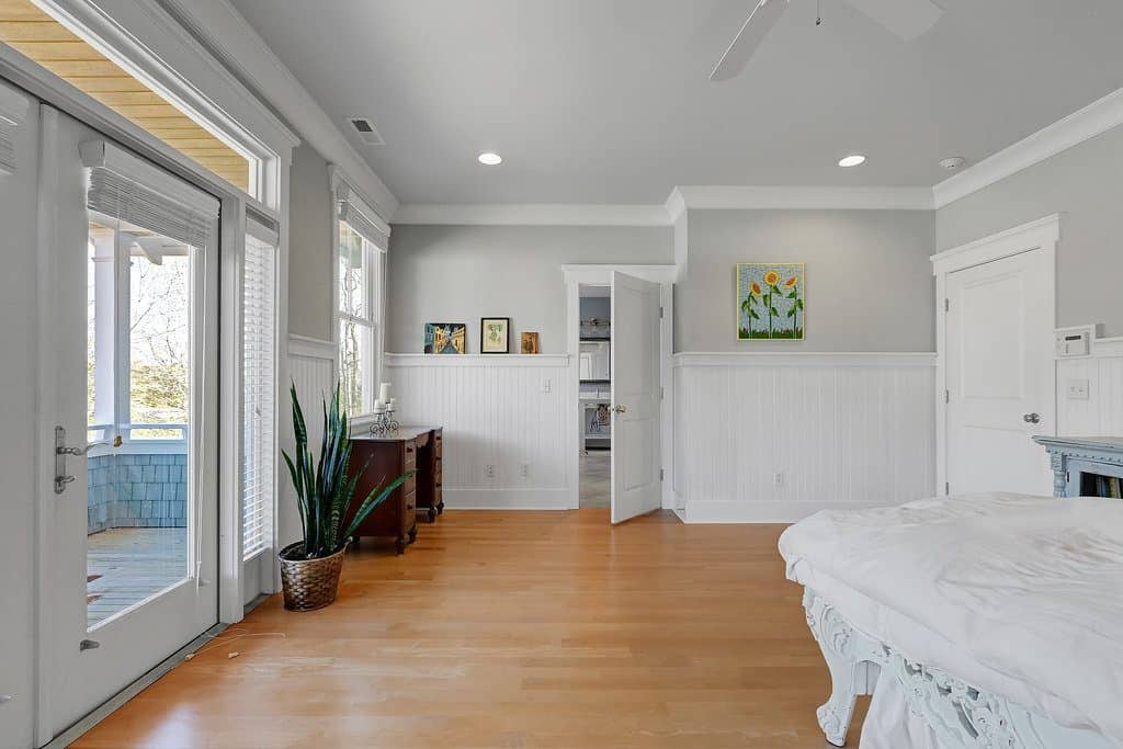 Southern Style Coastal Home master bedroom