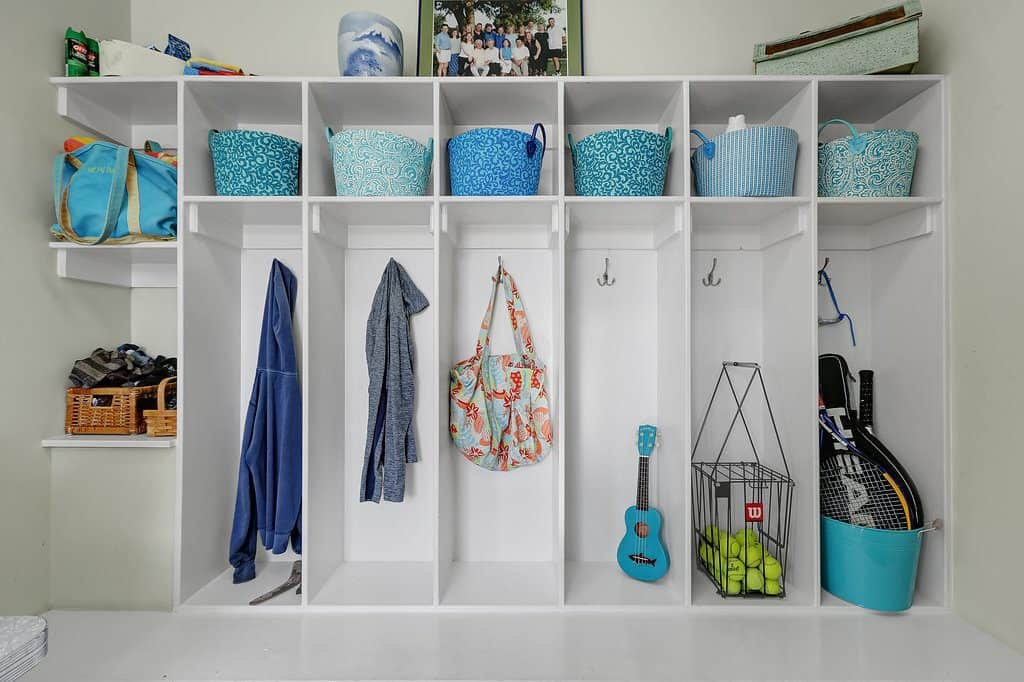 Southern Style Coastal Home mudroom