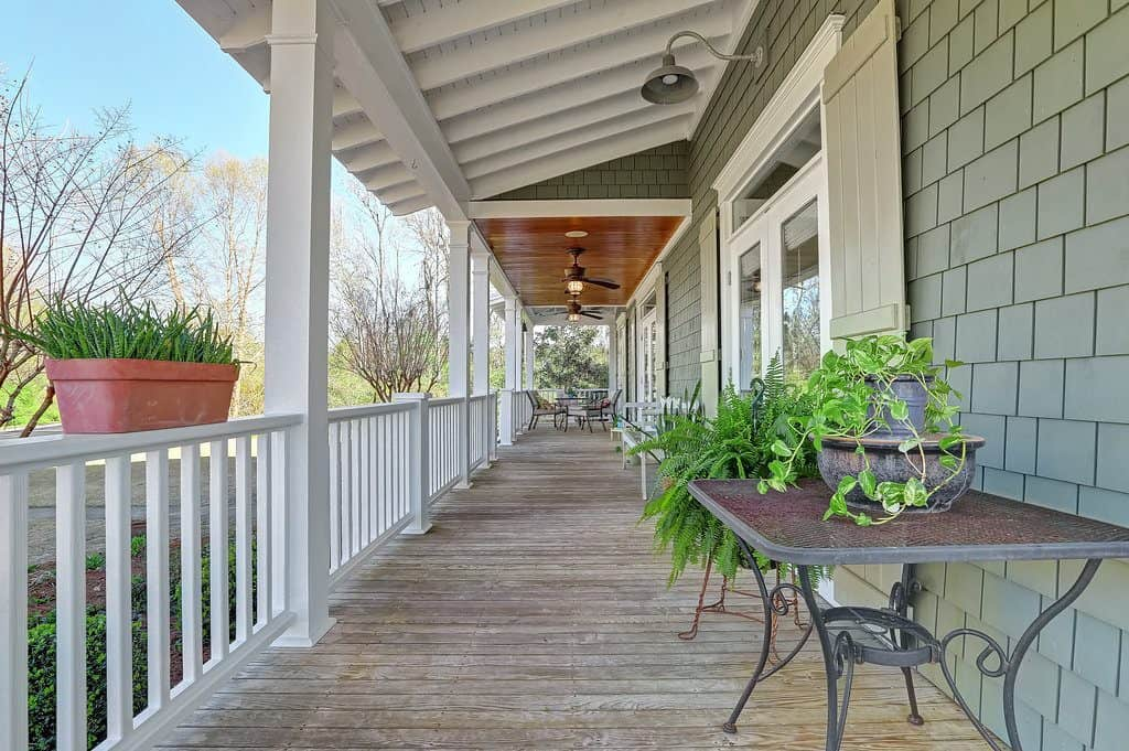 Southern Style Coastal Home wide front porch