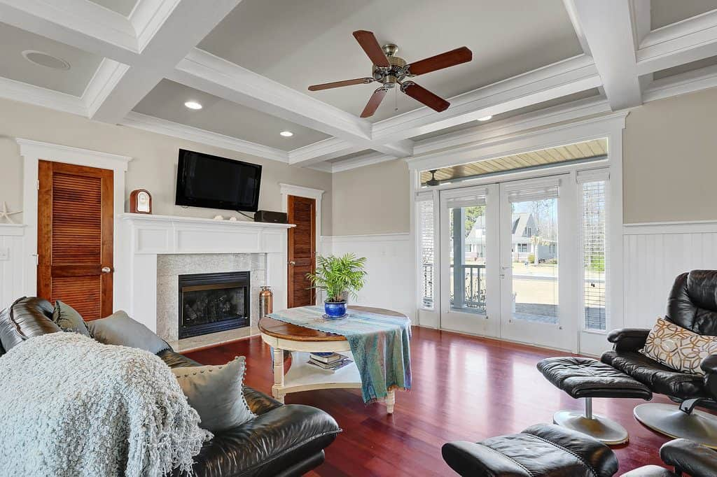 Southern Style Coastal Home living area