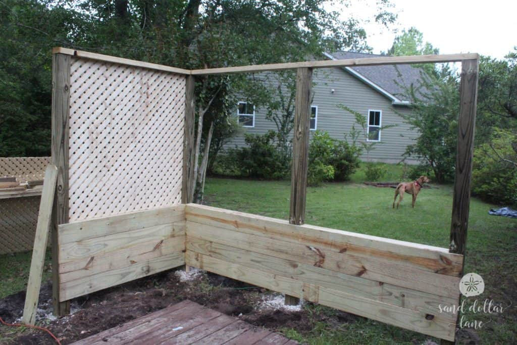 DIY Porch privacy screen