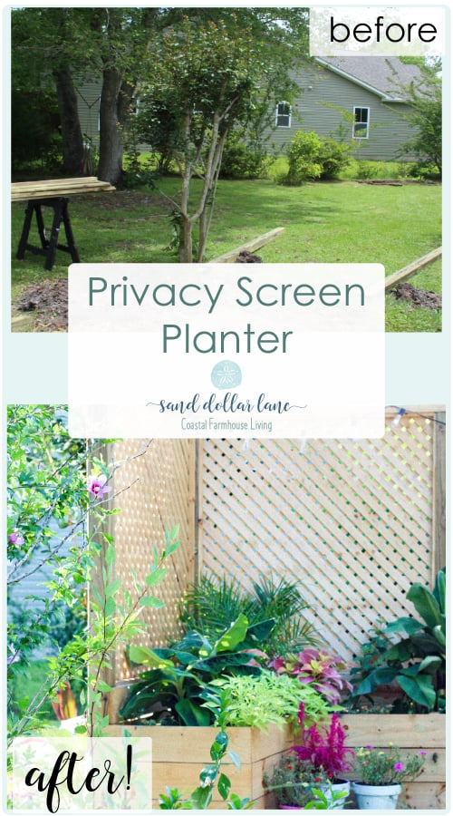 Check out this amazing transformation! Privacy screen with planter for under $200!