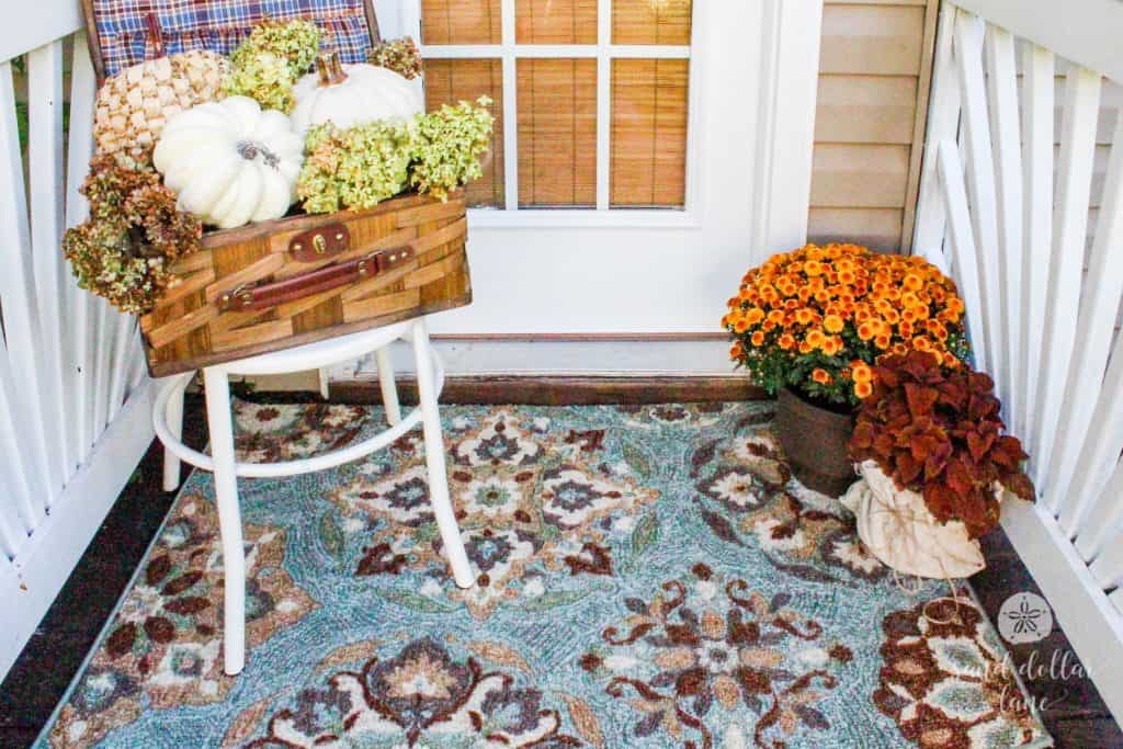 Love this rug for covered porch!