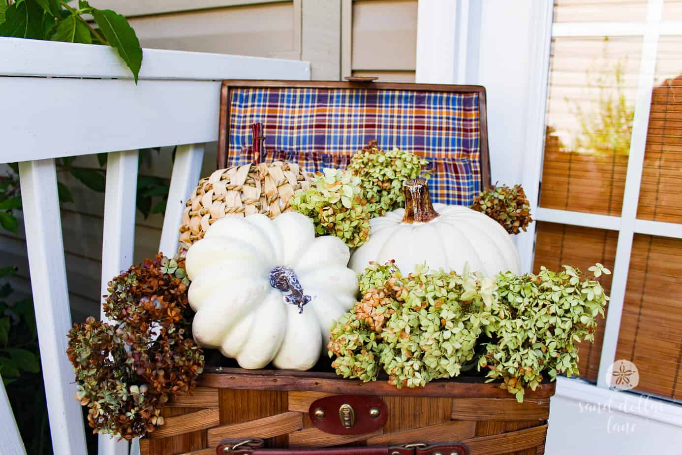 How To Decorate A Small Porch For Fall Sand Dollar Lane
