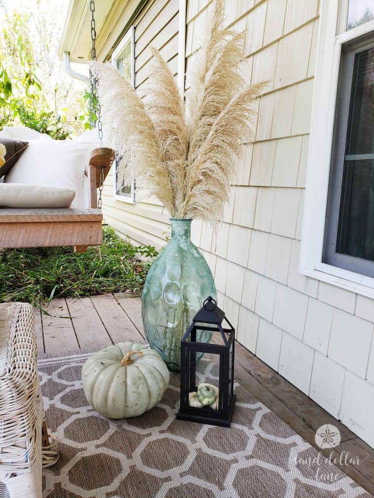 Simple Coastal Style Fall Front porch Decorating - Sand Dollar Lane