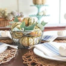 Simple Coastal Style Fall Decorating