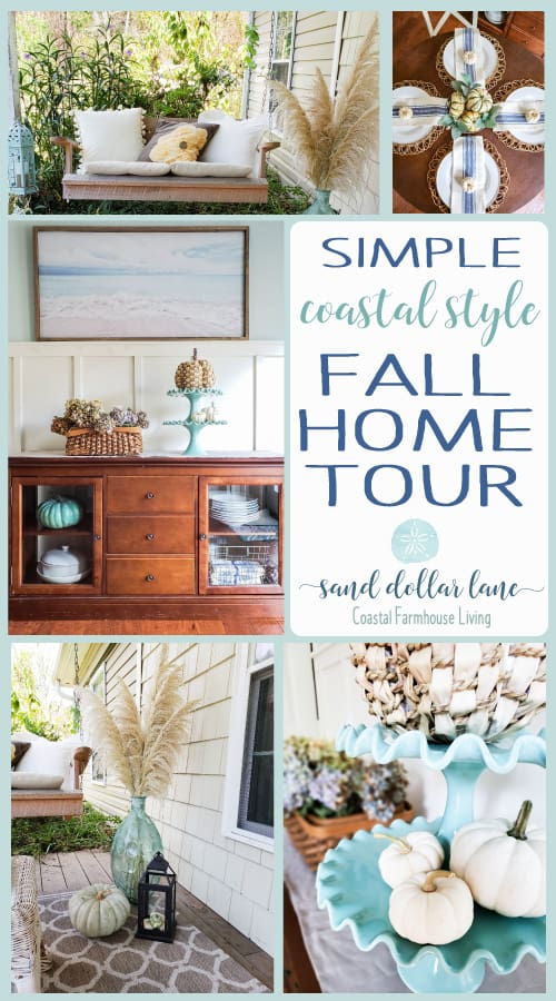coastal style fall decorating - Sand Dollar Lane Fall Home Tour