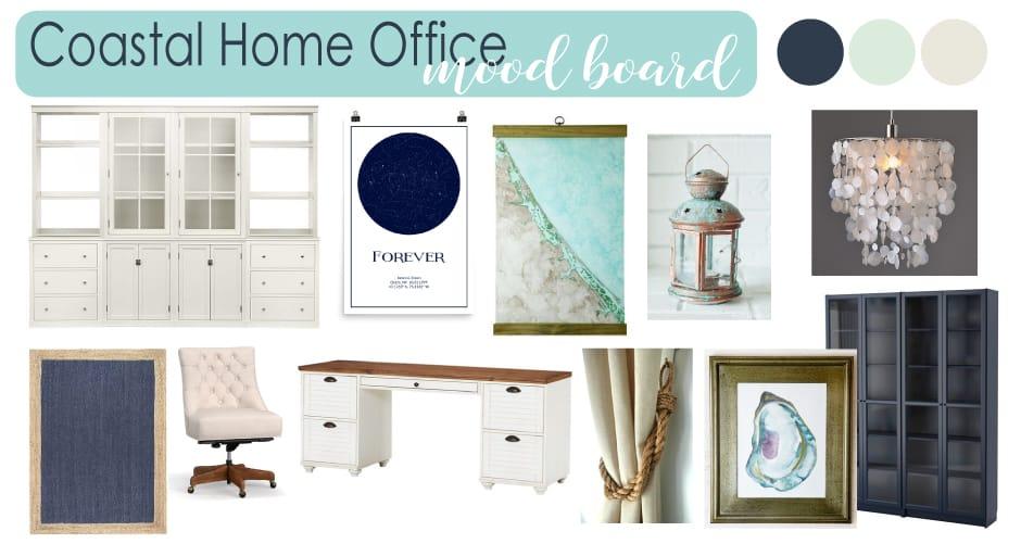 Coastal Home Office Mood Board