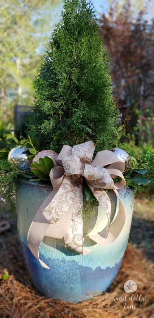 easy and beautiful Christmas planter