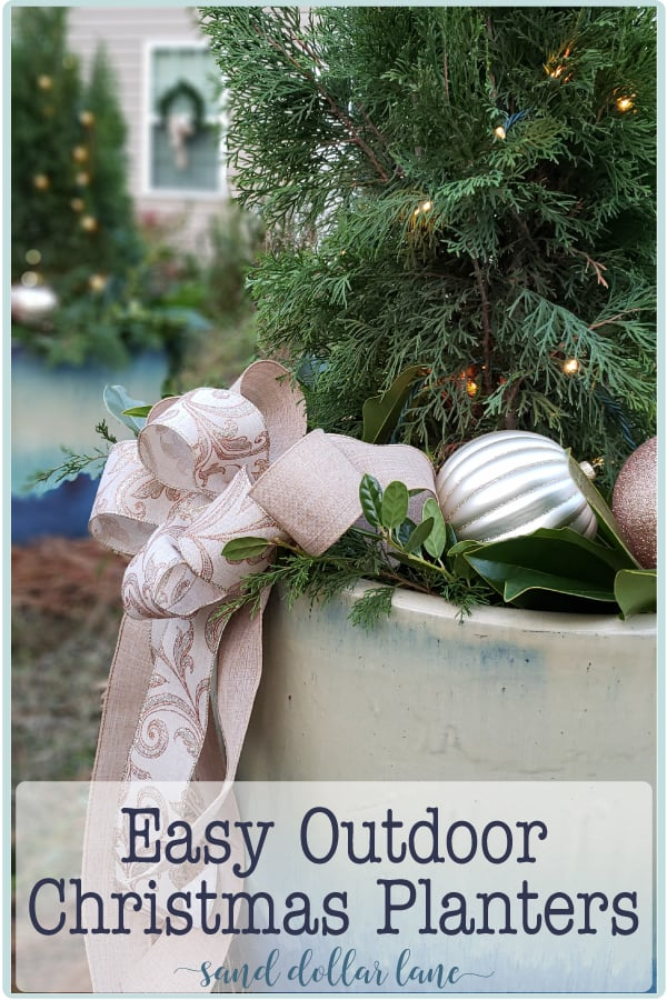 outdoor Christmas planter tutorial - Sand Dollar Lane