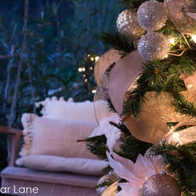 Rose Gold Christmas Porch
