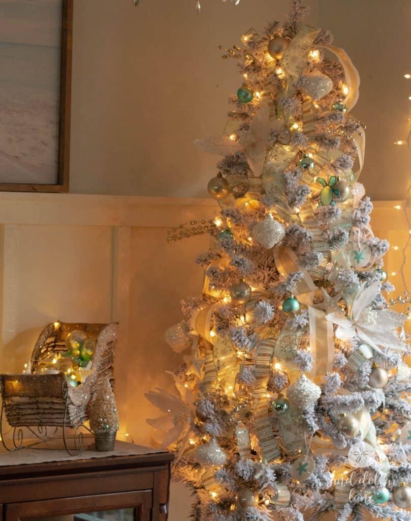 coastal Christmas decorations Sand Dollar Lane