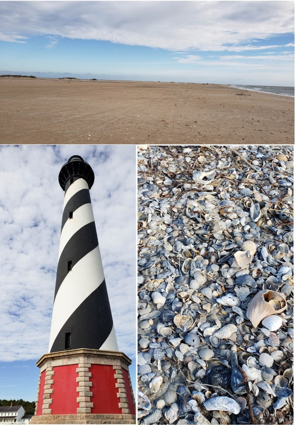 winter vacation in Ocracoke Hatteras Day Trip #capehatteras #lighthouse #obxvacation #coastalexploring