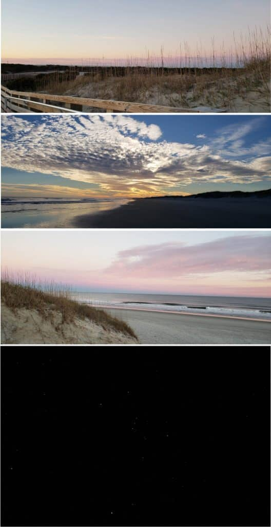 winter vacation in Ocracoke sunsets and stars #ocracoke #ocracokevacation #obx #coastalexploring