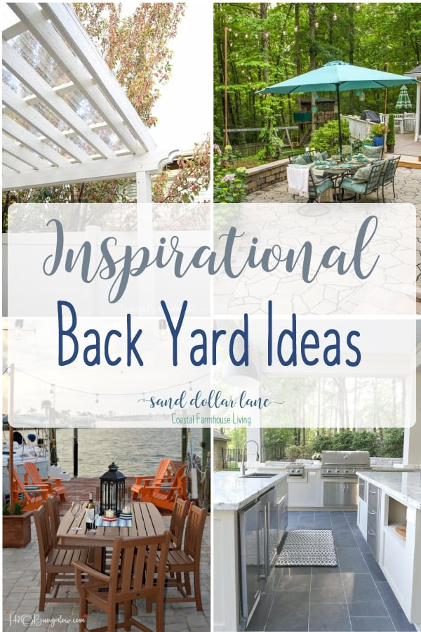 Back porch ideas sure to inspire you! #backporch #backyard #diy