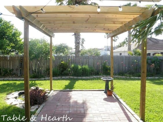back porch ideas - free standing pergola #pergola #backporch #backyard