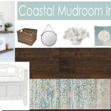 Coastal Mudroom Entryway Mood board