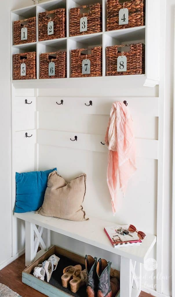 mudroom organization #mudroom #coastalhome #bench