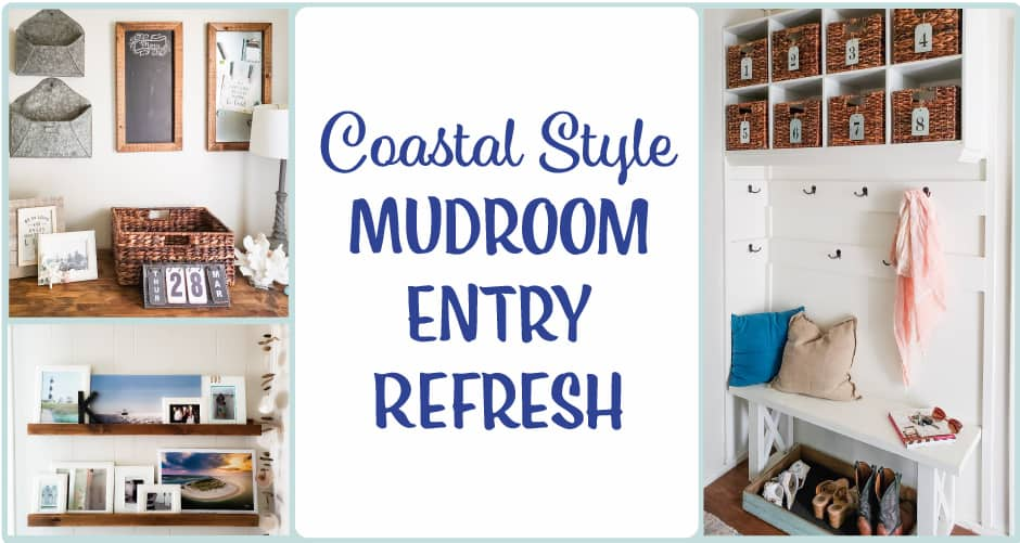 coastal style mudroom #mudroom #coastalhome #coastalfarmhouse #coastaldecorating