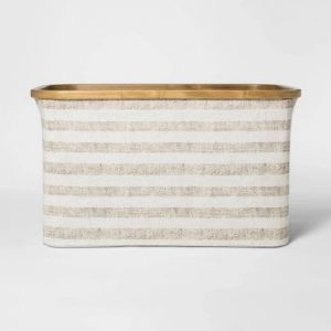 baskets for coastal laundry area