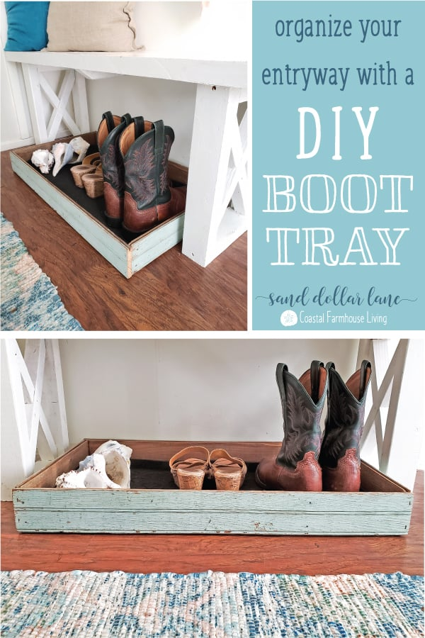 DIY Boot Tray tutorial