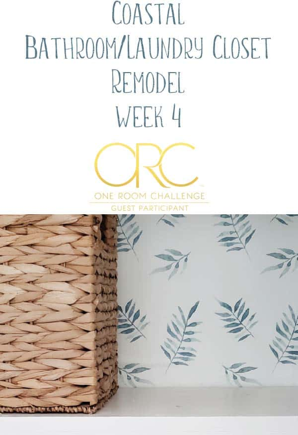 one room challenge - coastal bathroom remodel