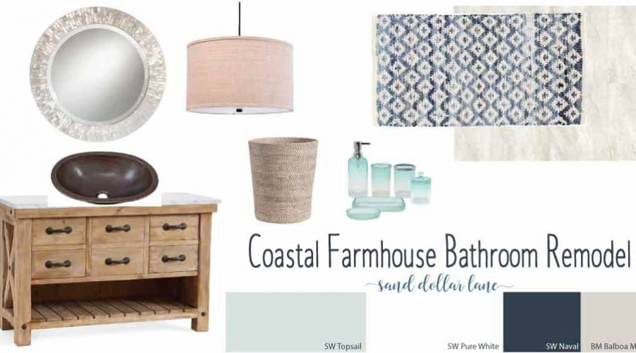 Coastal Farmhouse Bathroom Remodel