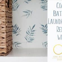 One Room Challenge Week 4 Coastal Laundry Closet