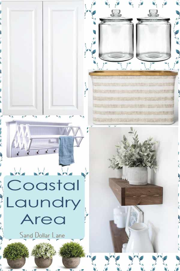 coastal farmhouse laundry closet