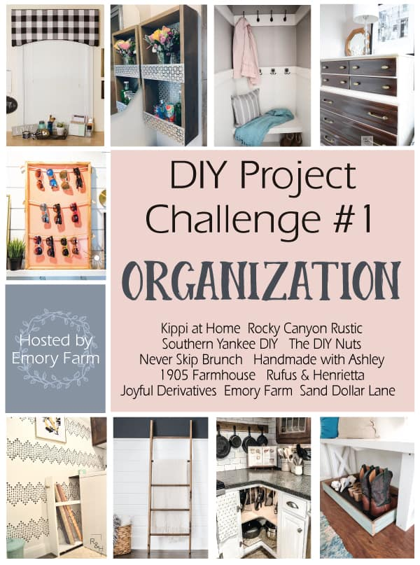 DIY Challenge - Boot Tray #boottray #mudroom #organization #DIY