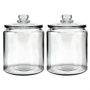 glass jars for laundry area