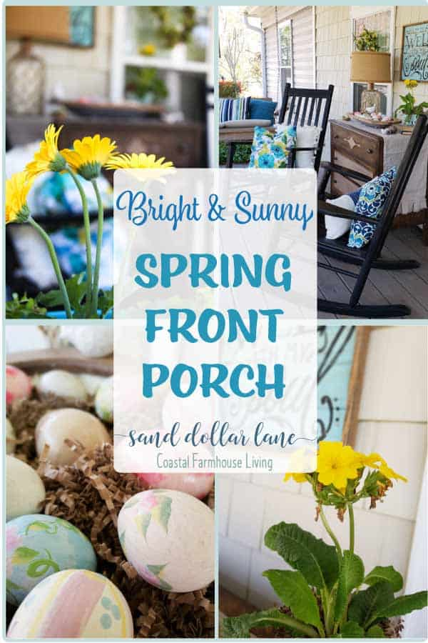 pretty porch decorated for spring