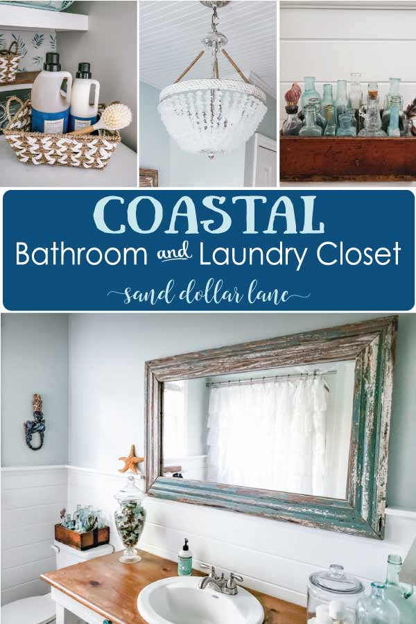 coastal bathroom and laundry closet
