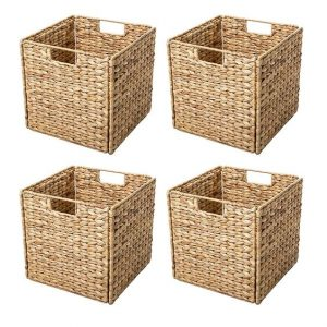 beachy baskets for laundry area